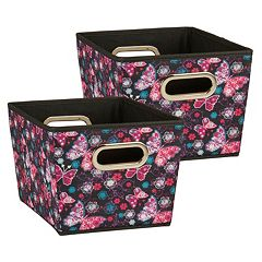 Household Essentials 2-piece Tapered Bin Set