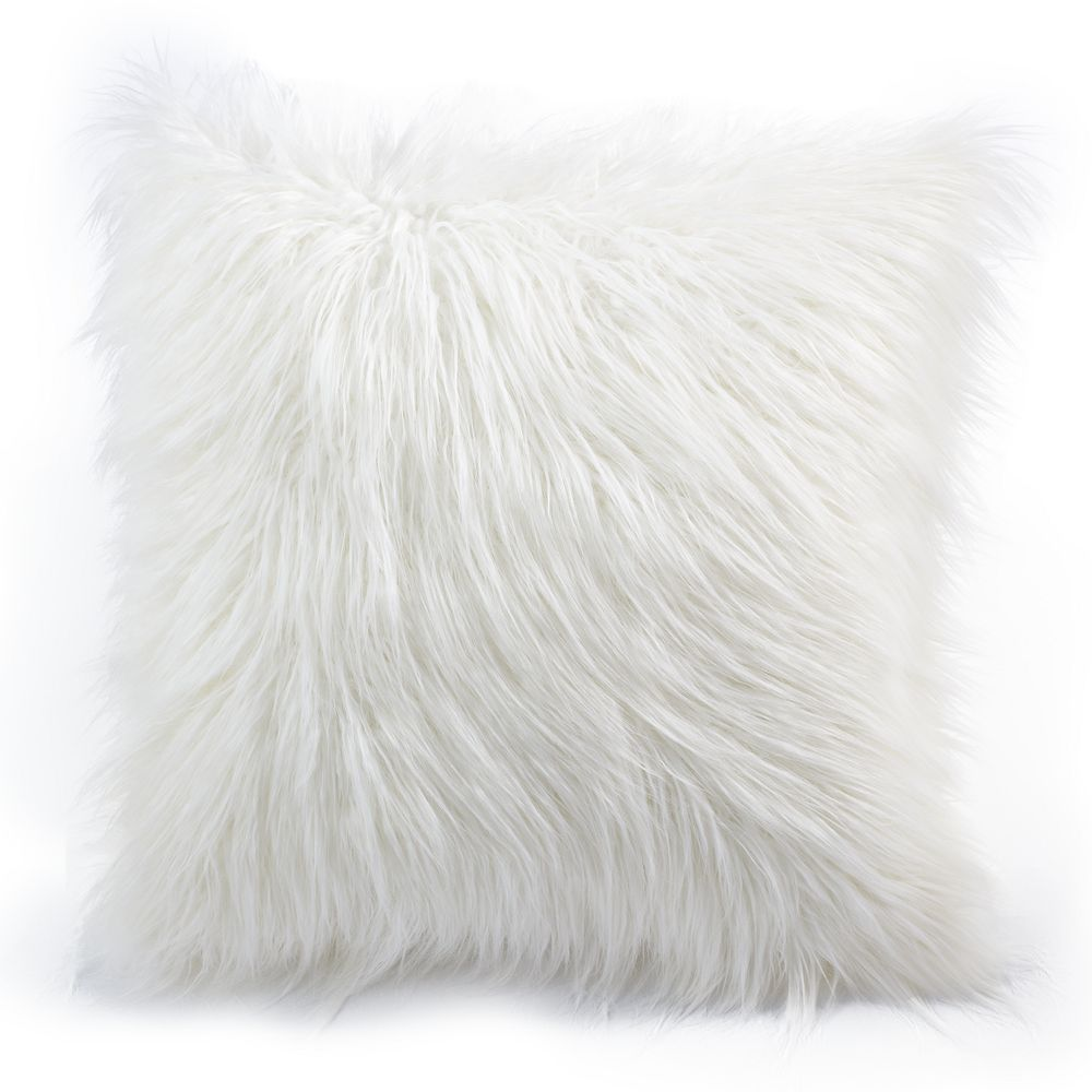 faux shipping pillow free cover today plush home overstock throw mongolian soft product white fur super garden