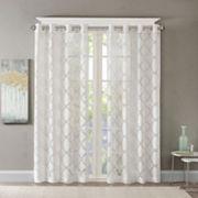 Madison Park Laya Fretwork Sheer Window Curtain