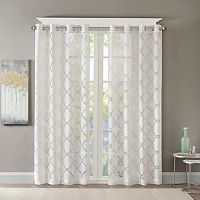 Madison Park Laya Fretwork Sheer Curtain