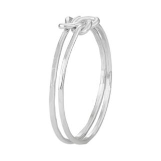 Journee Collection Sterling Silver Love Knot Ring