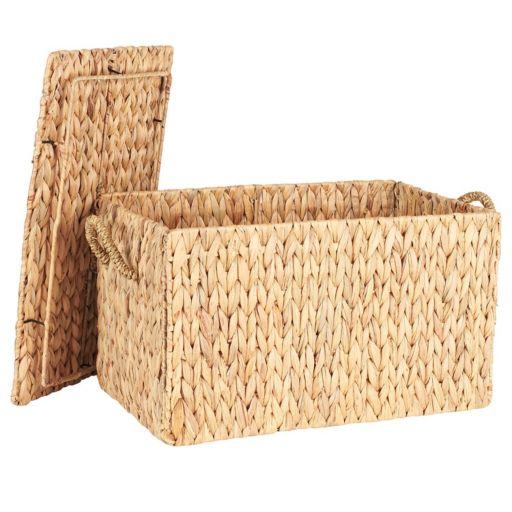 Household Essentials Spring Wicker Storage Trunk