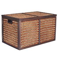 Household Essentials Sea Grass Poplar Wicker Storage Chest