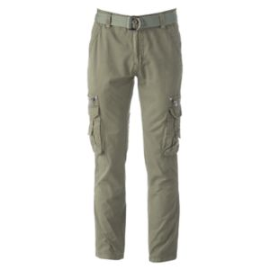 Men's XRAY Slim-Fit Twill Belted Cargo Pants