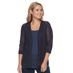 Petite Croft & Barrow® Pointelle Cardigan