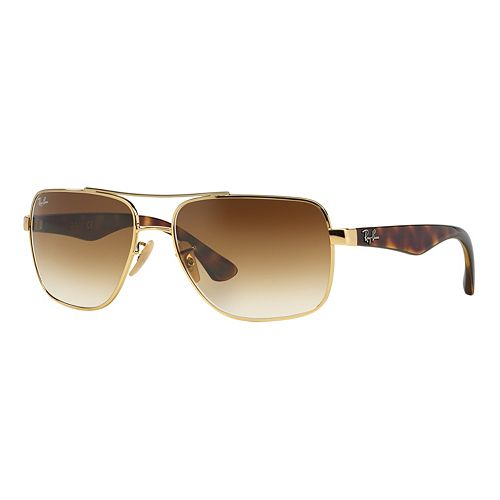 Ray-Ban Highstreet RB3483 60mm Square Gradient Sunglasses