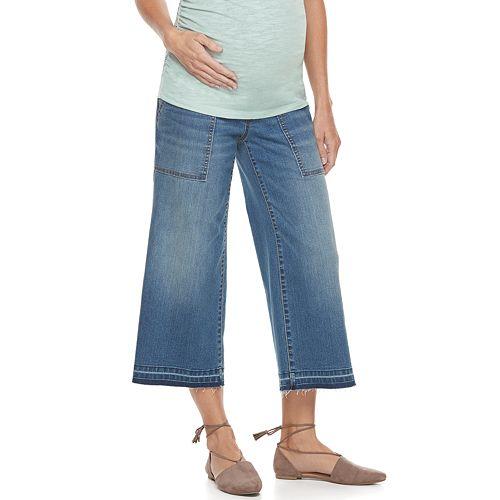 Maternity a:glow Full Belly Wide-Leg Jean Capris