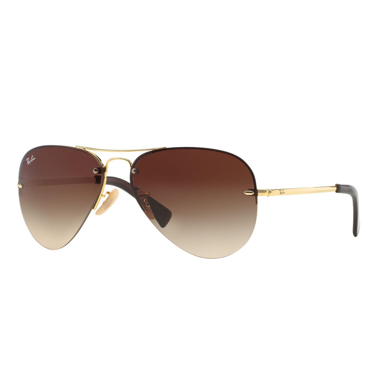 Ray-Ban RB3449 59mm Highstreet Aviator Gradient Sunglasses
