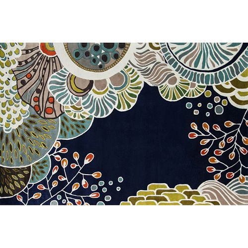 Momeni New Wave Azora Floral Wool Rug