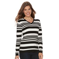 Petite Croft & Barrow® V-Neck Sweater