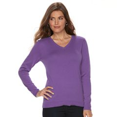 Petite Croft & Barrow® V-Neck Sweater