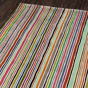 Momeni New Wave Levi Striped Wool Rug