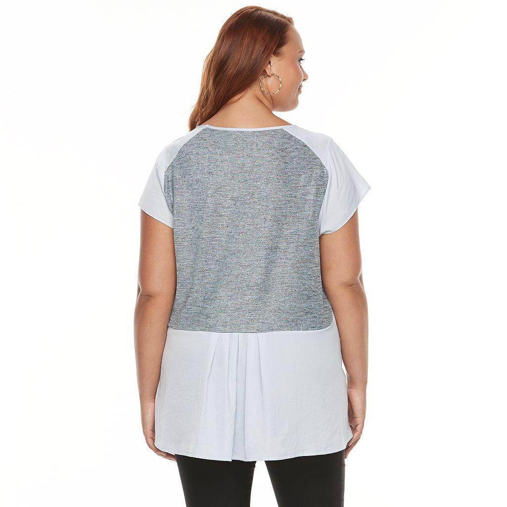 Plus Size Apt. 9® Foiled Scoopneck Top