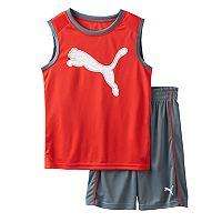 Boys 4-7 PUMA Graphic Performance Tank Top & Shorts Set