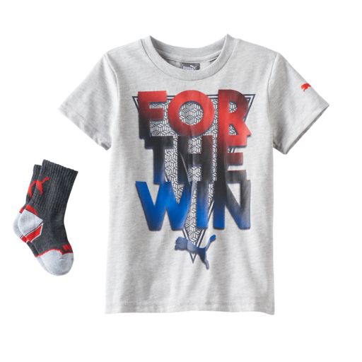Boys 4-7 PUMA Graphic Tee & Socks Set