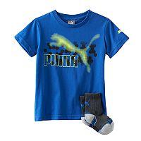 Boys 4-7 Puma Graphic Tee & Sock Set