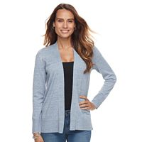 Petite Croft & Barrow® Essential Open-Front Cardigan