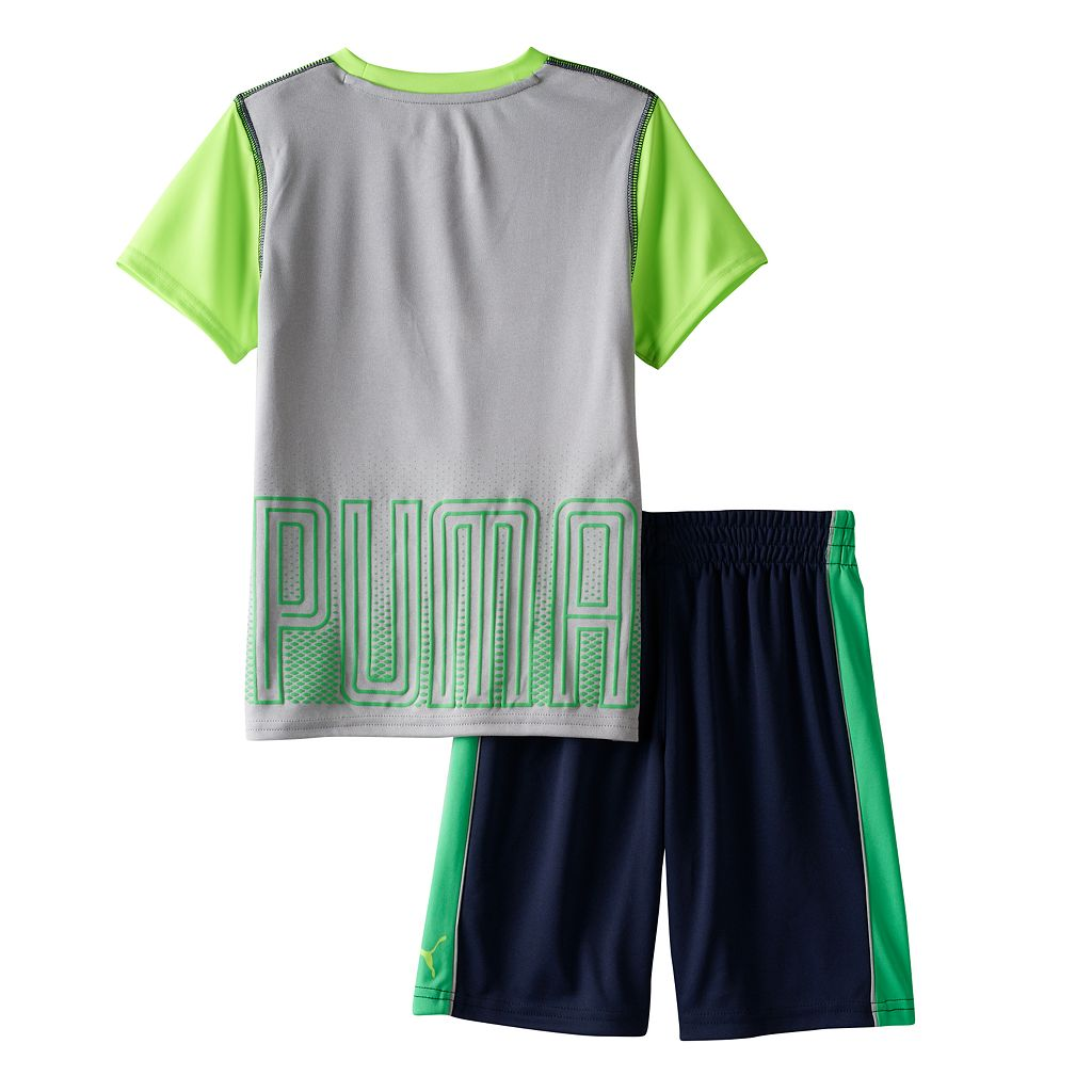 Toddler Boy Puma Graphic Performance Tee & Shorts Set