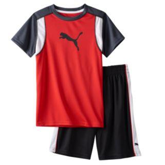 Toddler Boy Puma Graphic Performance Tee & Shorts Set