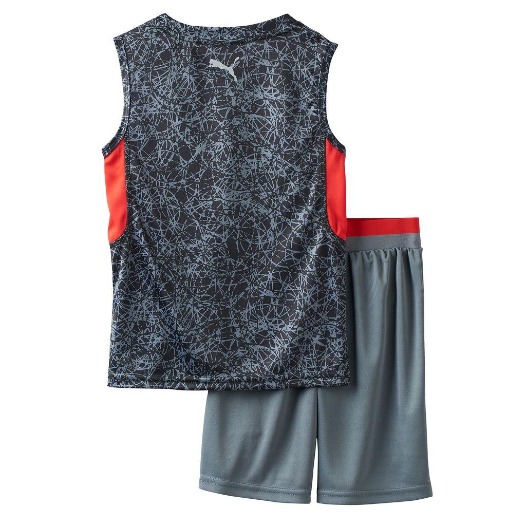 Toddler Boy PUMA Graphic Performance Tank Top & Shorts Set