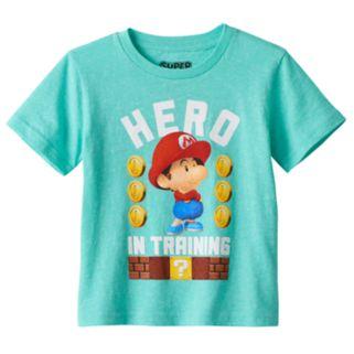 "Toddler Boy Super Mario ""Hero in Training"" Tee"