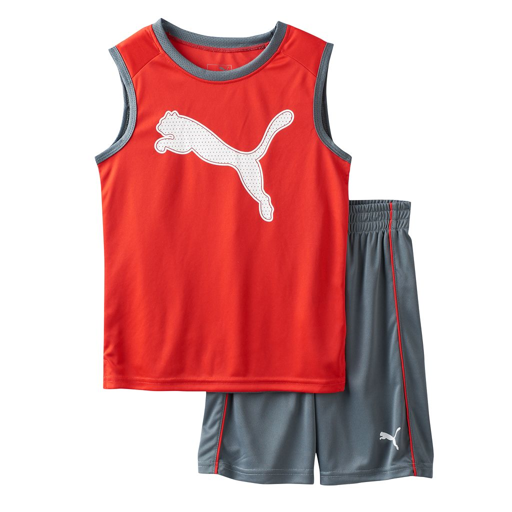 Toddler Boy PUMA Graphic Performance Tank Top & Shorts Set