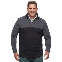 Big & Tall Haggar Marled Stretch Fleece Quarter-Zip Pullover