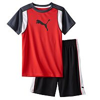 Baby Boy Puma Graphic Performance Tee & Shorts Set
