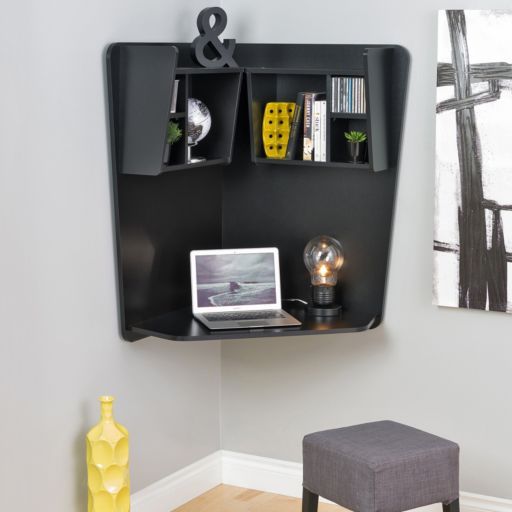 Prepac Floating Wall Corner Desk