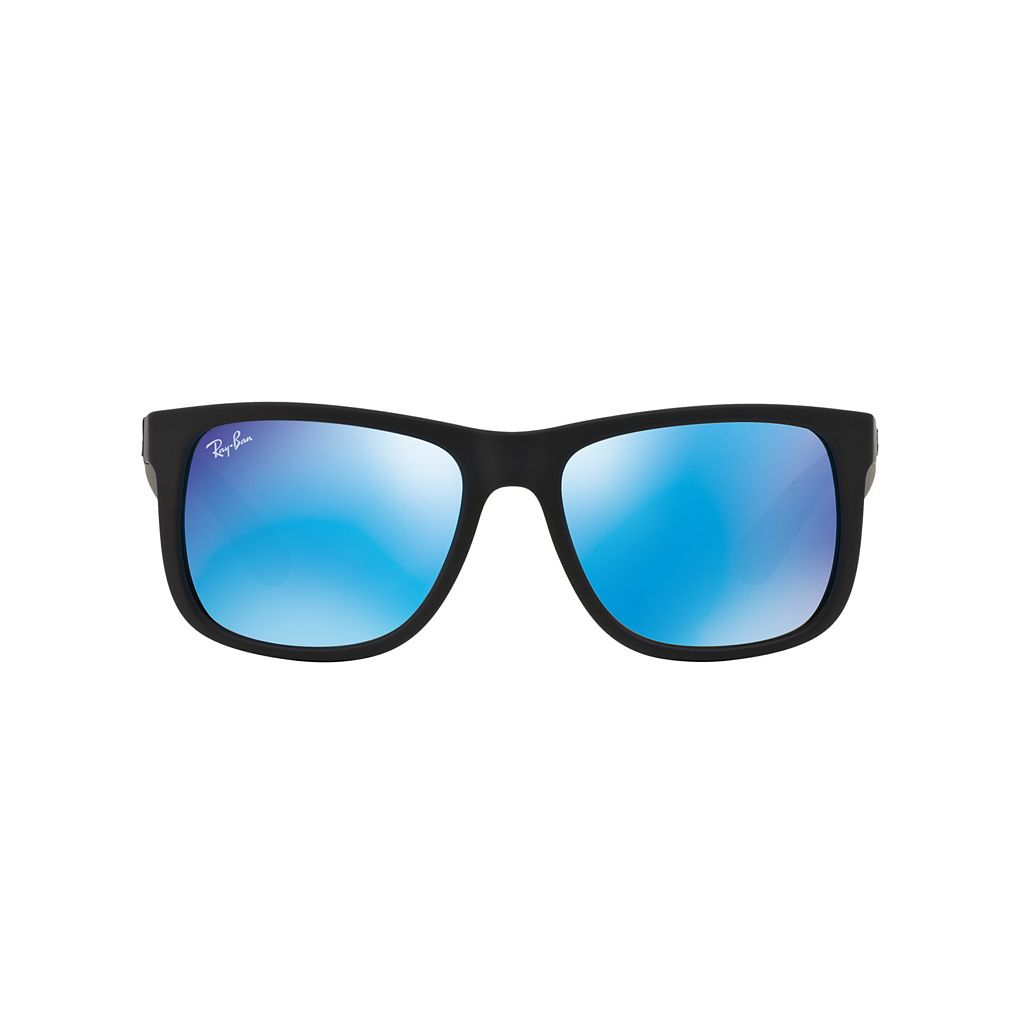 Ray-Ban Justin RB4165 55mm Rectangle Mirror Sunglasses