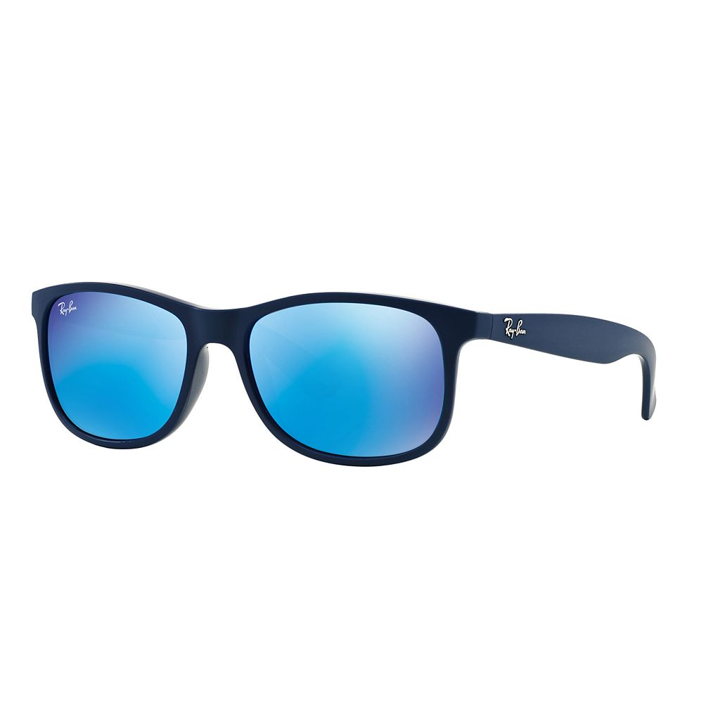 Ray-Ban Andy RB4204 55mm Rectangle Mirror Sunglasses