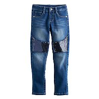 Girls 4-12 SONOMA Goods for Life™ Sequin Stretch Skinny Jeans