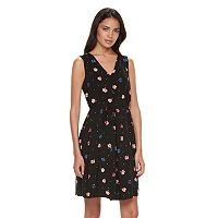 Women's ELLE™ Floral Pleat Fit & Flare Dress