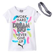 Girls 4-6x PUMA Tee & Headband Set