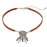 Mudd® Feather Dream Catcher Choker Necklace