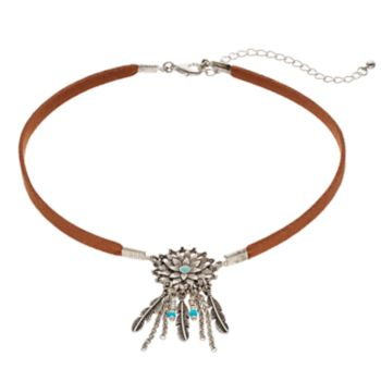 Mudd® Feather Dream Catcher Choker Necklace