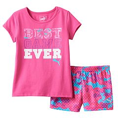 Girls 4-6x PUMA 'Best Game Ever' Tee & Shorts Set
