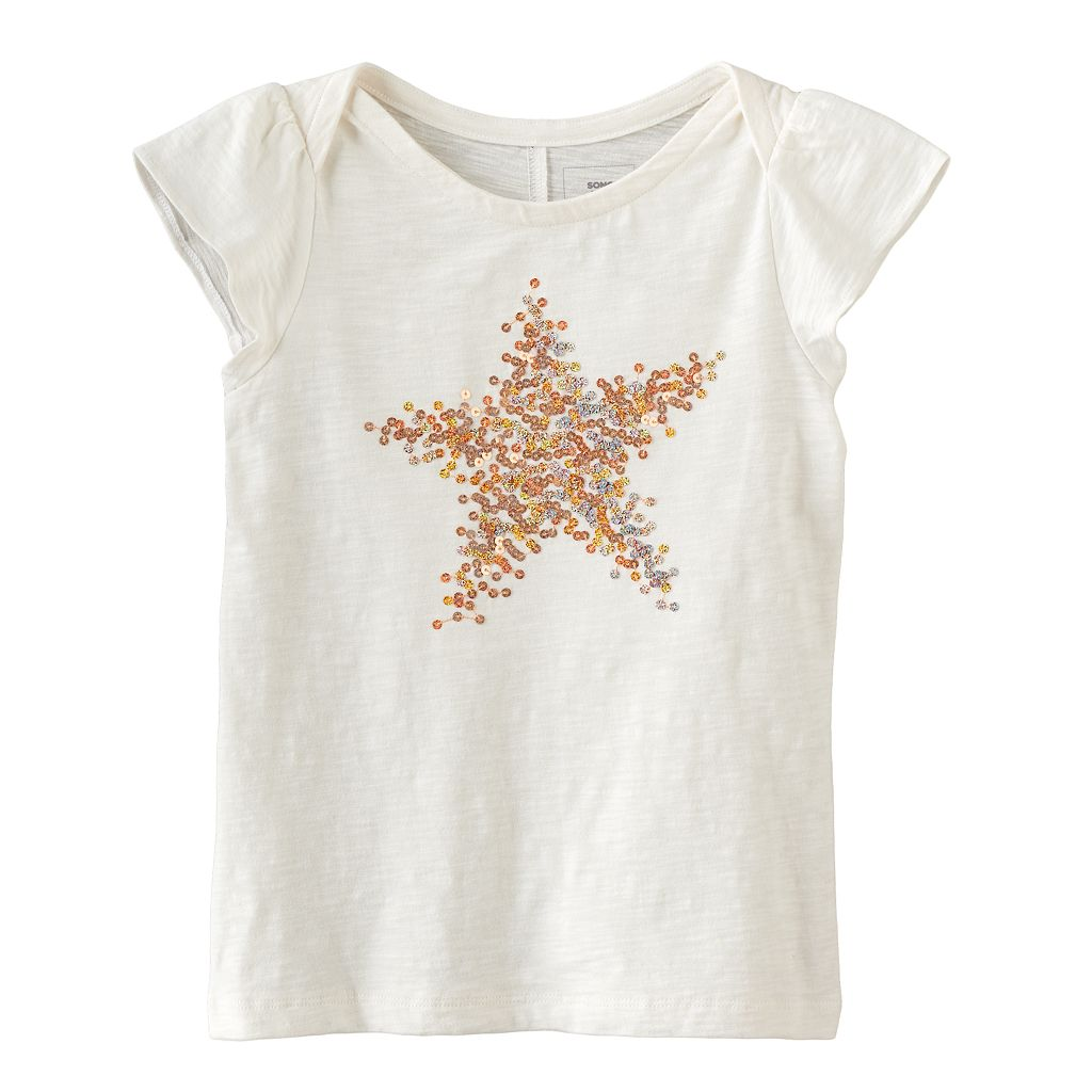 Girls 4-12 SONOMA Goods for Life™ Sequined Graphic Tee