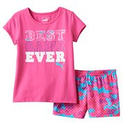 Toddler Girl PUMA 'Best Game Ever' Tee & Shorts Set
