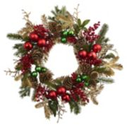 nearly natural Artificial Ornament & Pinecone Christmas Wreath