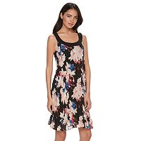 Women's ELLE™ Pleated Floral Shift Dress