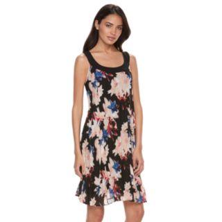 Women's ELLE? Pleated Floral Shift Dress
