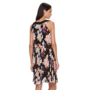 Women's ELLE™ Pleated Floral Shift Dress