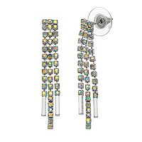 Simulated Aurora Borealis Fringe Drop Earrings