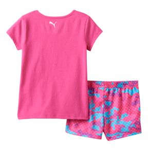 "Baby Girl PUMA ""Best Game Ever"" Tee & Shorts Set"