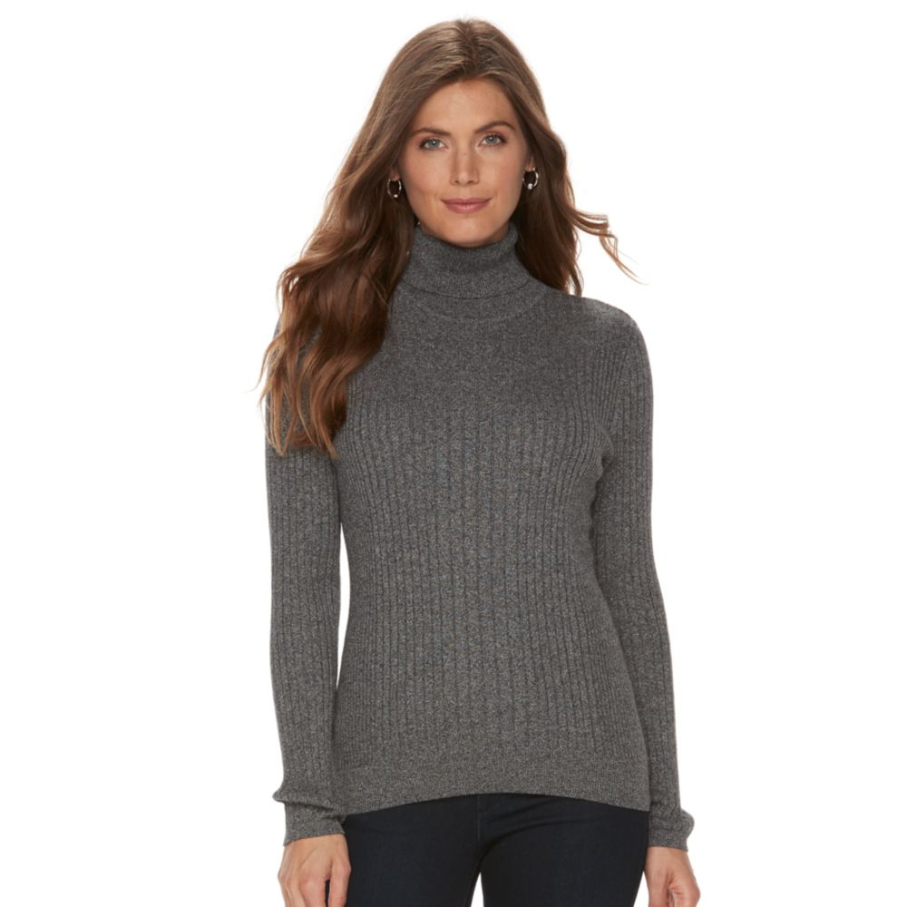 Croft & Barrow® Ribbed Turtleneck Sweater