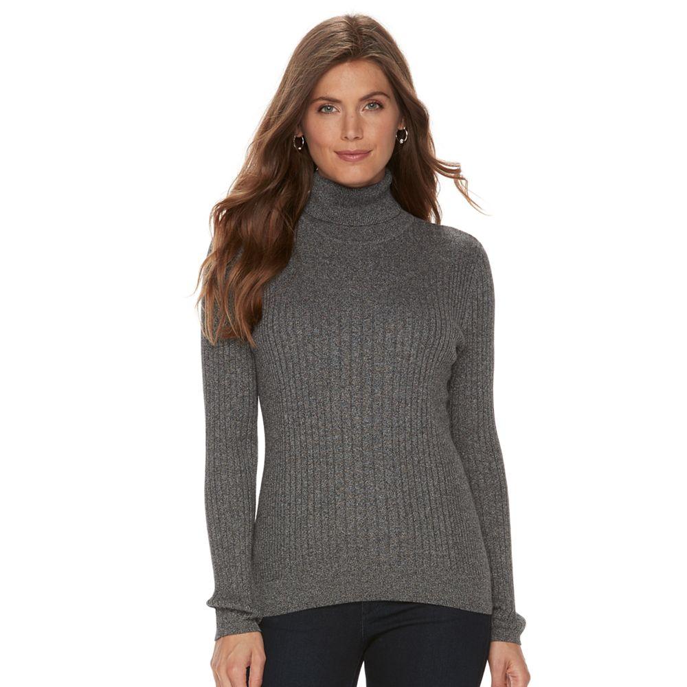 Croft & Barrow® Ribbed Turtleneck Sweater
