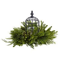 nearly natural Artificial Mixed Pine Caged Candelabrum
