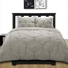 Cotton Pintuck Duvet Cover Set