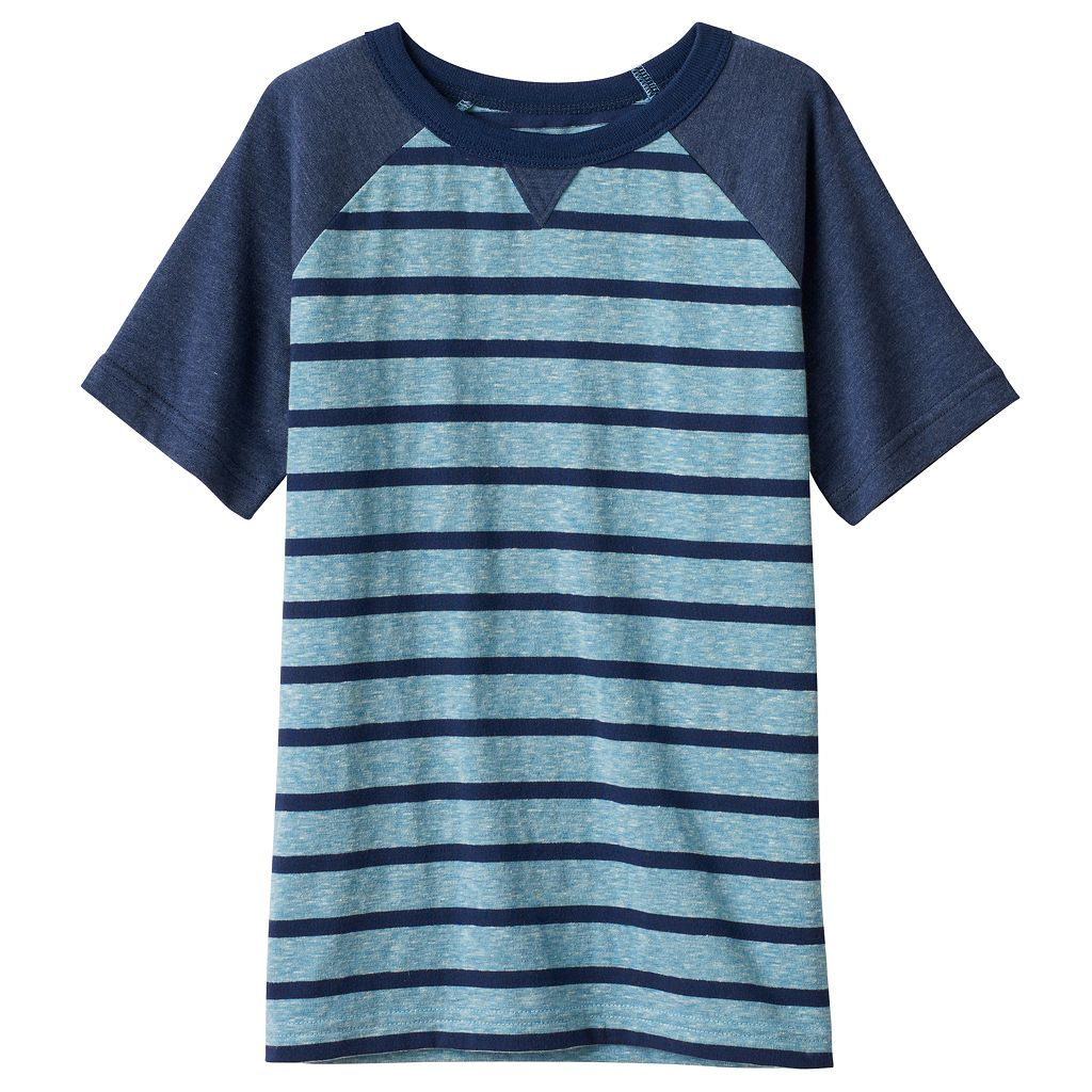 Boys 4-10 Jumping Beans® Striped Raglan Tee